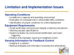 limitation and implementation issues