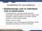 guidelines for surveillance16