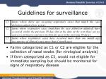 guidelines for surveillance20