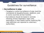 guidelines for surveillance24