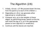 the algorithm 2 6