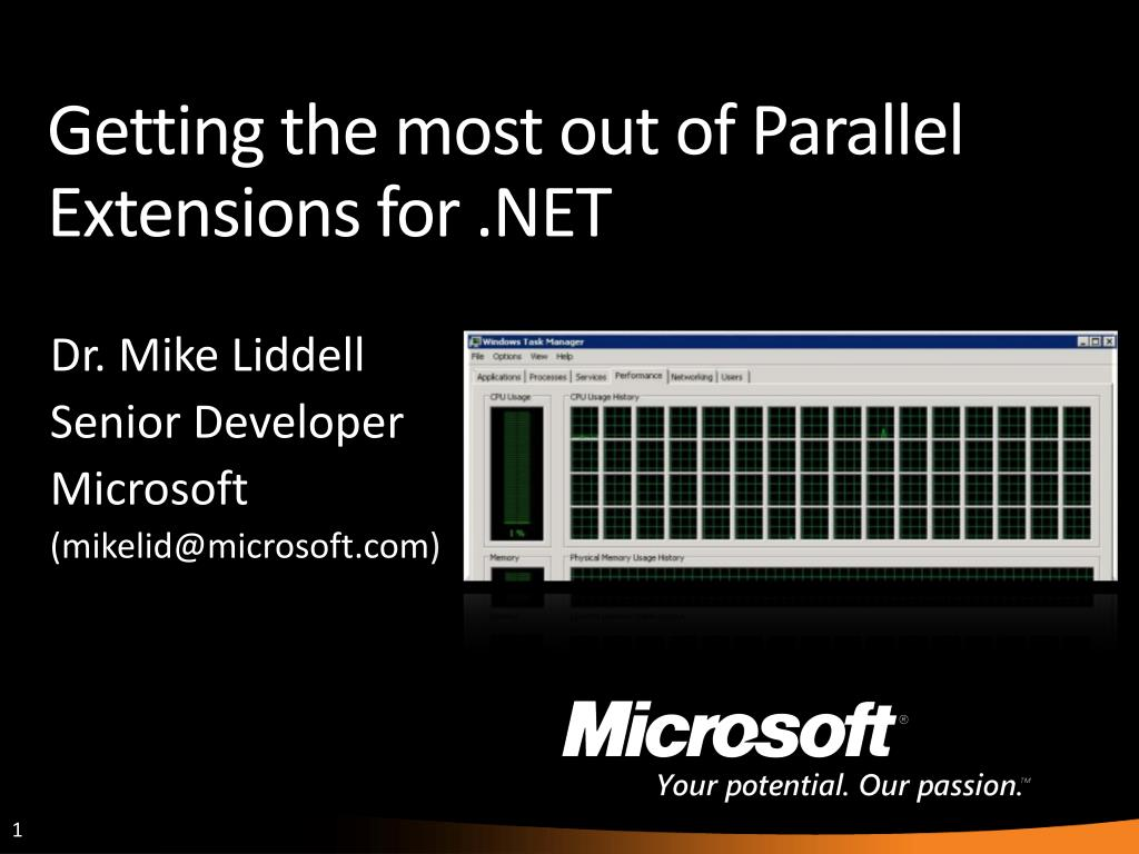 getting the most out of parallel extensions for net l.