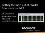 getting the most out of parallel extensions for net