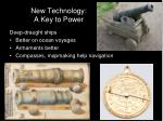 new technology a key to power