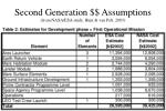 second generation assumptions from nasa esa study hunt van pelt 2003