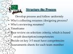 structure the process