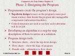 phase 2 designing the program