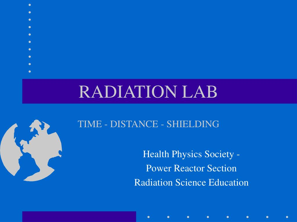 radiation lab time distance shielding l.