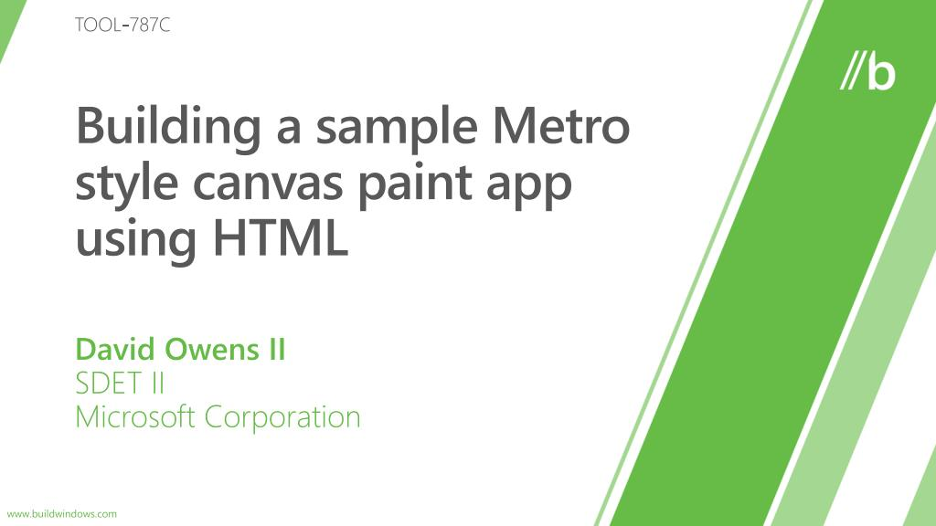 building a sample metro style canvas paint app using html l.