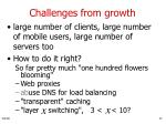 challenges from growth