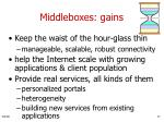 middleboxes gains