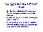 do not leave any answers blank