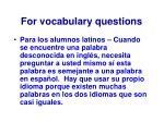 for vocabulary questions26