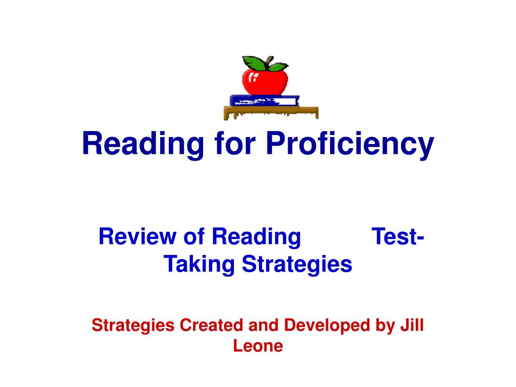 reading for proficiency l.