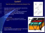 gemat geant4 based microdosimetry analysis tool