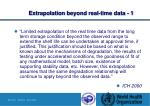 extrapolation beyond real time data 1