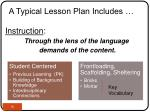 a typical lesson plan includes