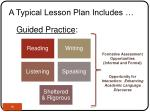 a typical lesson plan includes16