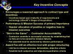 key incentive concepts