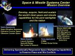 space missile systems center mission overview