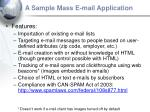 a sample mass e mail application27