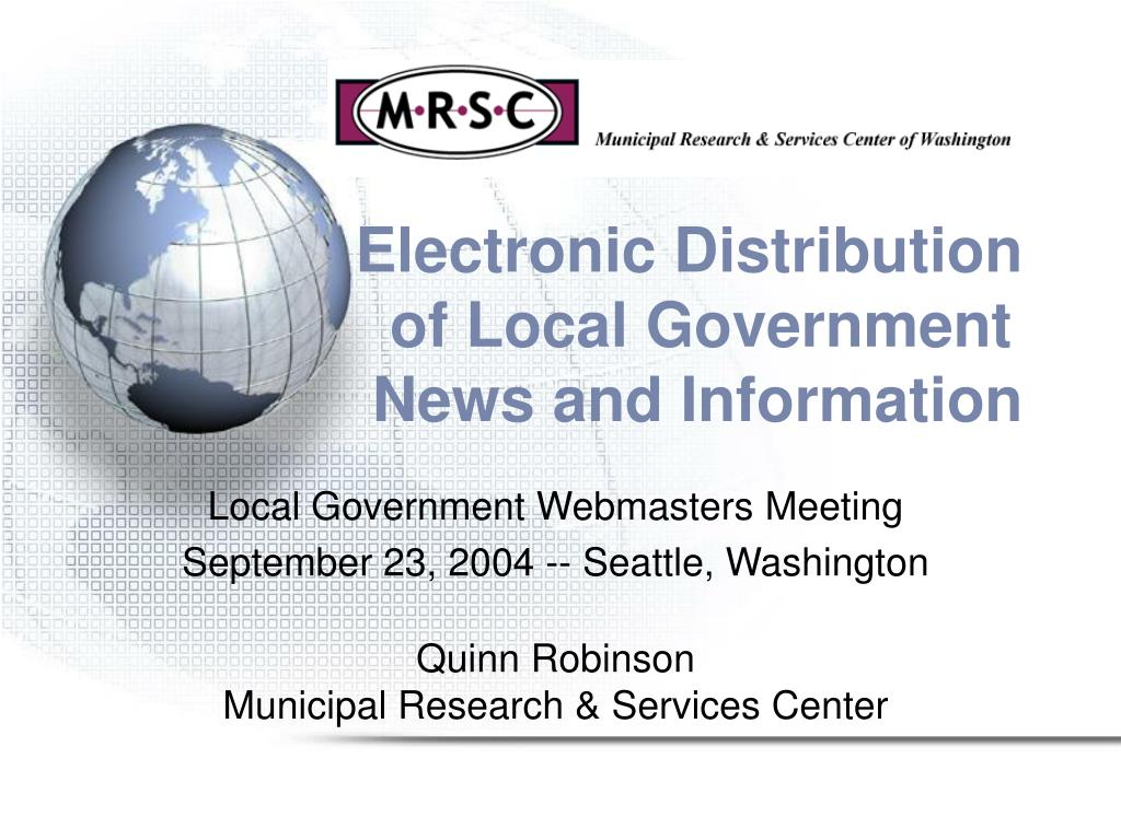 electronic distribution of local government news and information l.