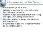 information and the 21st century
