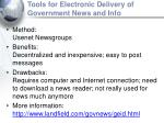 tools for electronic delivery of government news and info14