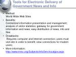 tools for electronic delivery of government news and info15
