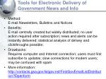 tools for electronic delivery of government news and info17