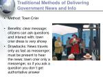 traditional methods of delivering government news and info6