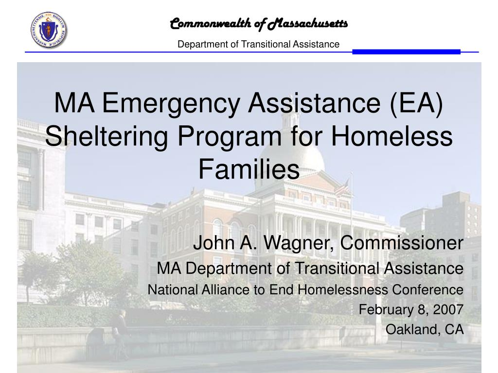 ma emergency assistance ea sheltering program for homeless families l.