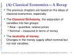 a classical economics a recap