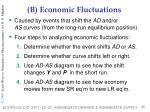 b economic fluctuations