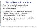 classical economics a recap