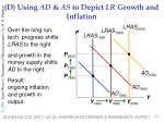 d using ad as to depict lr growth and inflation