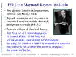 fyi john maynard keynes 1883 1946