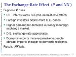 the exchange rate effect p and nx