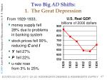 two big ad shifts 1 the great depression