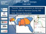 gulfport ms to georgia 1000 mw29