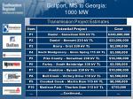 gulfport ms to georgia 1000 mw37