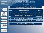 gulfport ms to georgia 1000 mw38