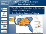 savannah ga to southern balancing authority59