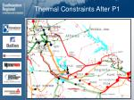 thermal constraints after p1