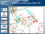 thermal constraints after p3