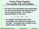 putting things together the liquidity trap and deflation