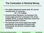 the contraction in nominal money21