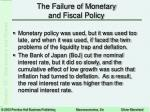 the failure of monetary and fiscal policy