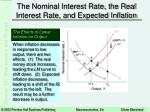 the nominal interest rate the real interest rate and expected inflation6