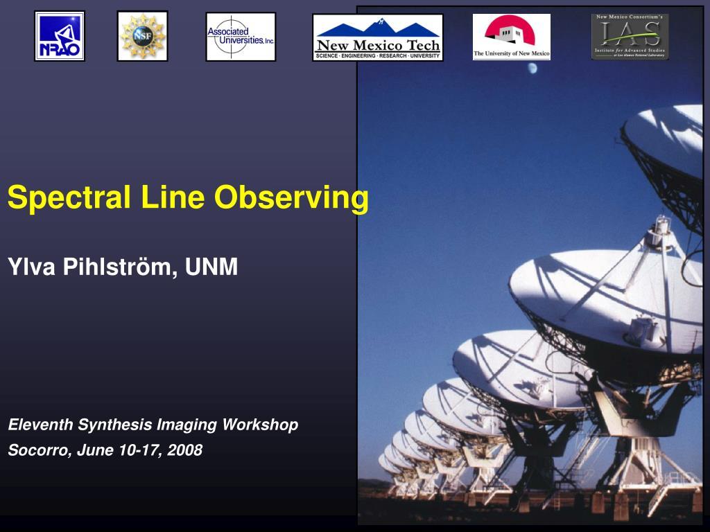 spectral line observing l.